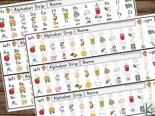 desk alphabet strips