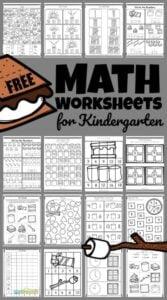 smores free kindergarten math worksheets