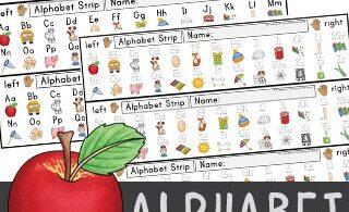 free printable alphabet strips