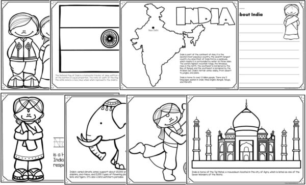 Read Color And Learn About India