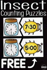 insect telling time puzzles