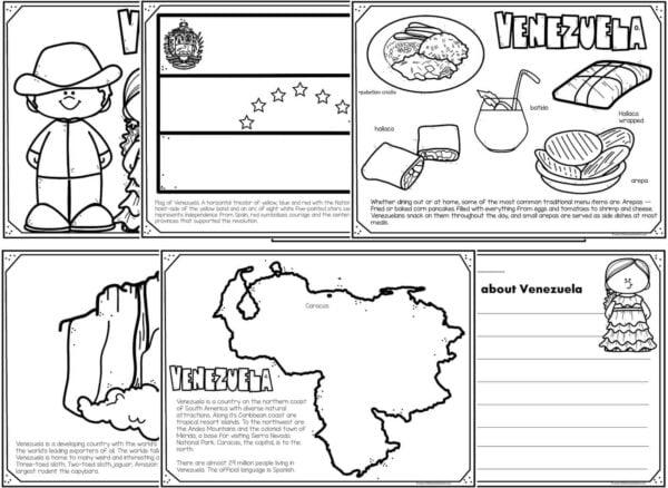 venezuela coloring pages