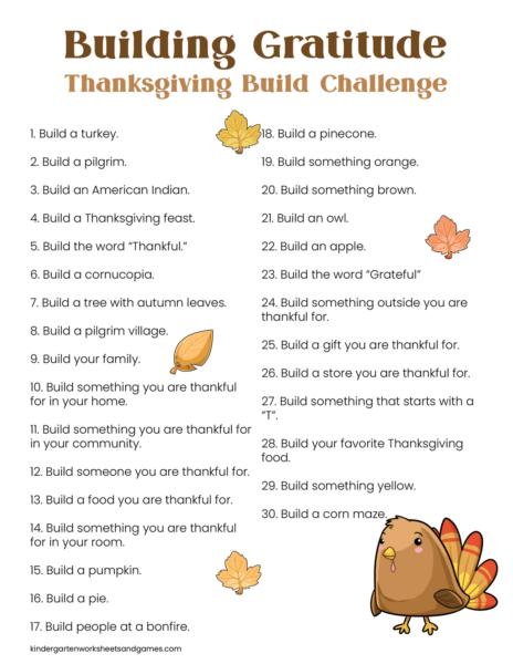 free printable 30 days of gratitude