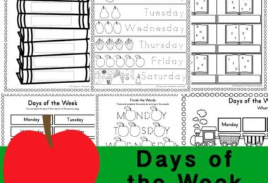 These free Days of the Week Worksheets are a great way for children to practice and improve their reading and writing skills while learning the days of the week. Thesedays of the week printables are perfect for preschool, pre-k, kindergarten, and first grade students. Download the pdf file with thedays of the week worksheet for kindergarten.