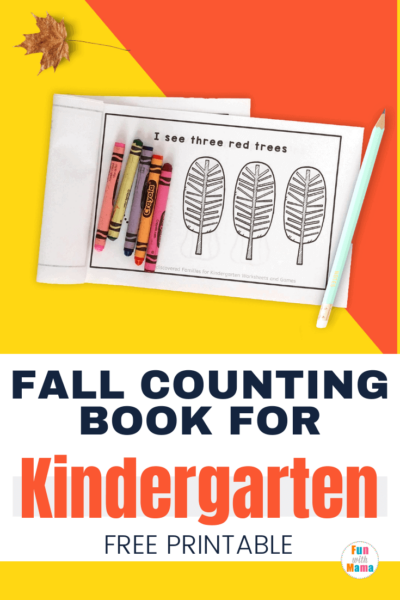fall count to 10 printables reader for Kindergarten