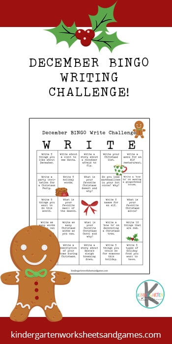 December is the perfect time for a BINGO writing challenge for kids. Simply print the Christmas writing prompts calendar and students in kindergarten, first grade, 2nd grade, 3rd grade, and 4th grade students will pick different creative writing prompts to write about and as they work through the December writing prompts they will try to get BINGO! Simply download pdf file with writing prompts for Christmas and have fun making learning fun during the holiday season.