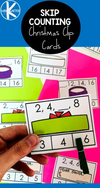Help kindergartners and first grade students practice skip counting during December with this super cute, free printable Christmas skip countingactivity. This hands-onkindergarten Christmas mathis a reusablechristmas printables where children will mark what number comes next as students practice skip counting by 2s and skip counting by 3s.