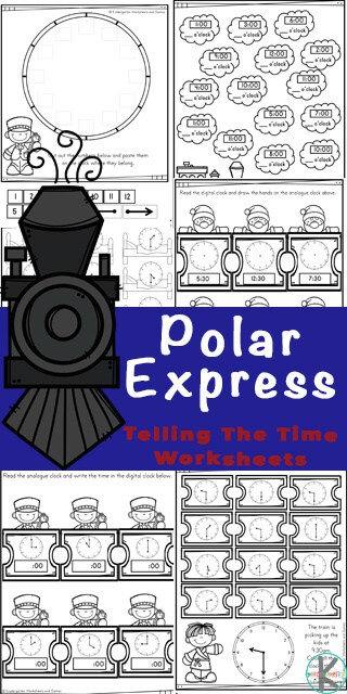 FREE Polar Express Telling the Time Worksheets