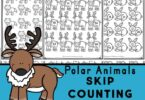 If you are looking for a fun, simple way for kids to learn to skip count, you will love these super cute Skip Counting Worksheets. These free skip counting worksheets have a fun polar animals theme to engage students from pre-k, kindergarten, to elementary age students in first grade, 2nd grade, 3rd grade, and 4th grade.  Using these no-prep skip counting printables children will be able to learn, practice and review skip counting by 2s, 3s, 4s, 5s, 6s, 7s, 8s, 9s, and 10s while having fun!