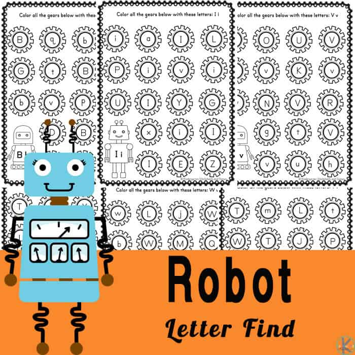 Robot alphabet worksheets