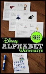 disney alphabet worksheets