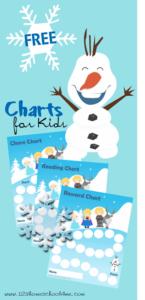 olaf frozen reward charts