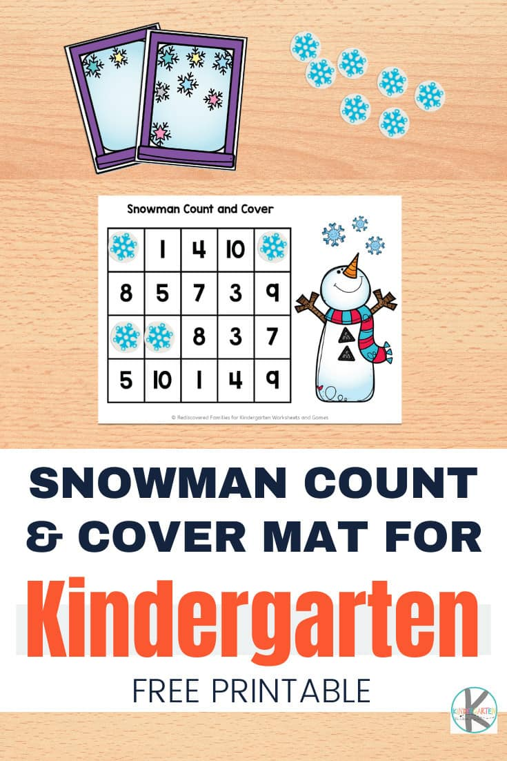 Our FREE printable snowman count and cover mats help students practice counting and number recognition. Easy prep and hands on learning at it's best. Perfect for your Kindergarten winter theme math centers. Click through to snag your copy today.