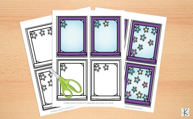 free snowman printables for kindergarten math this winter