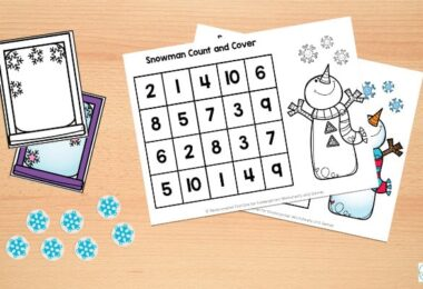 winter math for kindergarten