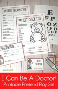 Free Printable Doctor Pretend Play