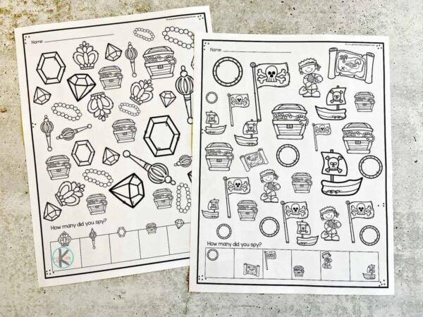 free printable I spy treasure hunt
