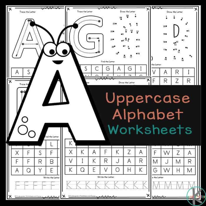 FREE Uppercase Alphabet Printables