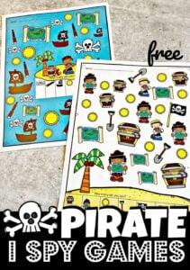 FREE printable Pirate I Spy Games