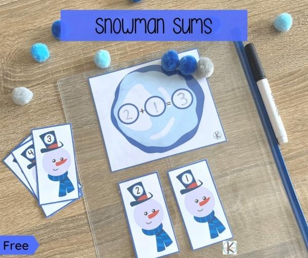 Snowman Addition Game