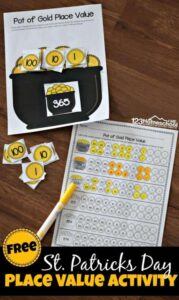 st patricks day place value games