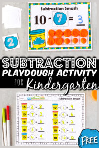subtraction activity for kindergarten