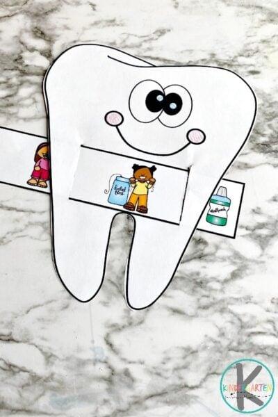 Brushing teeth visual sequence
