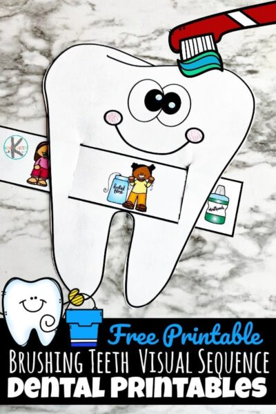 Are your kids learning how to brush their teeth? It can be difficult to remember all of the important steps and although we are there to help them, we ultimately want them to learn to do it on their own. Brushing teeth is a crucial step each day, if not more than once a day. This simple to make Sliding Checklist For Brushing Teeth can make it super easy for kids to know what to do next! Simply download pdf file withdental printables to make your own, free printable, reusablebrushing teeth visual sequence.This is such a fundental activities to add to your dental theme forDental Health Month in February with toddler, preschool, pre-k, kindergarten, first grade, and 2nd grade students.