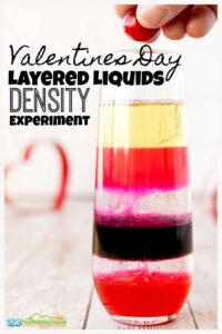 Layered Liquids Density Experiments for Valentines Day