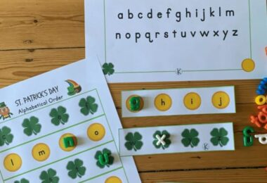 Before we know it it will be March and which holiday do we celebrate in March? St. Partick's Day of course! Add this alphabetical order activity pre-k and kindergarten age studnets is a great way to sneak in some fun learning with no prep St Patrick's Day Worksheets. Simply download pdf file with free st patrick's day printables and you are ready to play and learn!