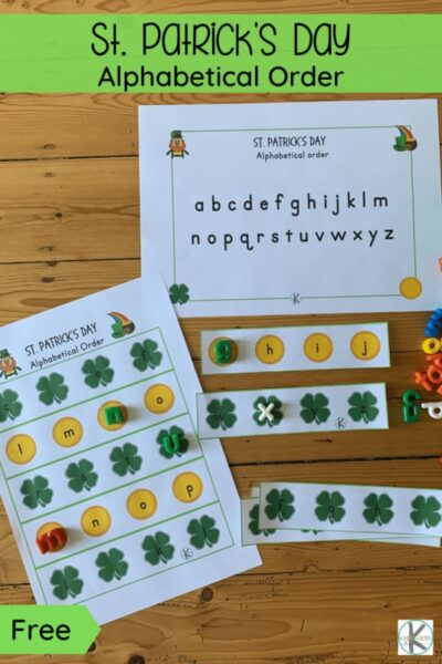 Before we know it it will be March and which holiday do we celebrate in March? St. Partick's Day of course! Add this alphabetical order activity pre-k and kindergarten age studnets is a great way to sneak in some fun learning with no prep St Patrick's Day Worksheets.Simply download pdf file withfree st patrick's day printables and you are ready to play and learn!