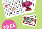 Our FREE Love Monster count and cover game is ready just in time for Valentine's Day. Your Kindergarten students will love this fun counting activity. Easy prep and lots of fun. Use them for early finishers, in math centers, or homeschool!