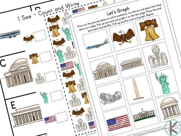 american symbol worksheets