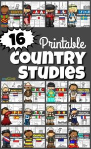 around the world printables