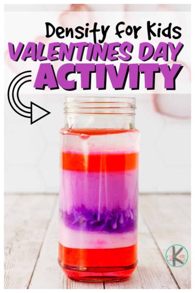 UnderstandingDensity for Kids doesn't have to be hard when you use a fun, hands-onliquid density experiment to demonstarate! Since Valentine's Day is just around the corner, we decided to make ourkindergarten science experiment a funValentines Day Scienceproject. Thisvalentine science experimentswill amaze toddler, preschool, pre-k, kindergarten, first grade and 2nd grade students. So when you are looking for your nextvalentines day activity, try an idea that is both fun and educational!