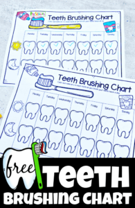 dental printable teeth brushing chart