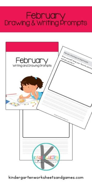 Many kids cringe at the thought of writing but many do love to draw. So why not combine february writing prompts with drawing prompts to encourage a fun time writing rather than just staring at a blank page. With theses February Writing and Drawing Prompts Printable Pack, your child gets to envision the prompt, draw the prompt, and write. This process makes it easier for the child to write the prompt. Simply download pdf file with Writing prompts for feburary and you are ready to practice writing with kindergarten, first grade, and 2nd grade students.
