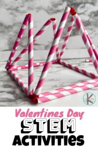 Are you looking for a fun and engaging Valentines Day STEM Activities for February? I've got your answer. With just a few supplies and a few minutes of prep, you can give your kids the supplies they need to create their own 2D or 3D shapes! This shape activity is such a fun valentines day activity for kindergarten. This Valentine's Day STEM Shapes activity is not only easy but it is super fun too!  This valentine stem activities is perfect for preschool, pre-k, kindergarten, and first grade students as part of your valentines day theme.