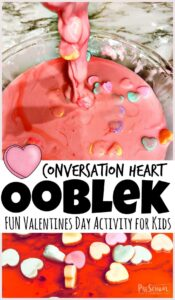 Conversation Heart Ooblek - FUN Valentines Day Activity for Kids