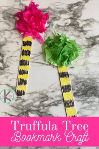 Celebrate Dr Seuss Day on March 2nd by making a fun Dr Seuss Craft! This dr. seuss craft for kids goes with The Lorax Picture book filled with colorful, funny-looking truffula trees. Make this cute truffula tree craft as a book based craft and dr seuss activity kids will love!