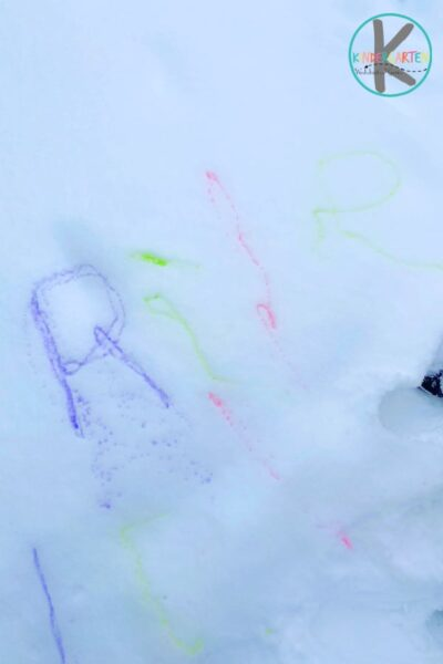 Easy snow painting