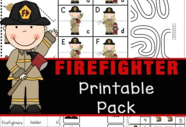 Make learning about firefighters and the important job they do putting out fires in our community fun with these firefigther worksheets. This HUGE pack of over 55+ pages of free printable worksheets for kindergarten helps children practice a variet of math and literacy skills with a fun fireman theme! Use these Kids in preschool, kindergarten, and grade 1 will love working on their math and literacy skills while completing the activities in this massive Firefighter Printable Pack. In this pack, children will be introduced to different tools that a firefighter uses as part of their job. Simply download pdf file with firefigther printablesand you are ready to play and learn!