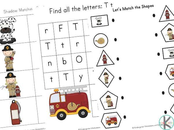 Free printable worksheets for kindergarten