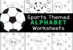 Work on letter recognition with these super cute, Find the Letter Worksheets. These find the alphabet worksheet have a fun sports theme to engage your sports fan in preschool, pre-k, and kindergarten. The sports printables are filled with soccer, bowling, baseball, tennis, beach, volleyball, basketball, and more sports equipment. Kids will have fun strengthening fine motor skills and literacy skills as they complete the letter find worksheets pages. Simply download pdf file with kindergarten alphabet worksheetsand you are ready to play and learn!
