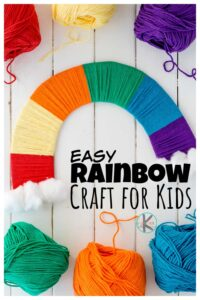 Pretty rainbow craft that is such a fun,