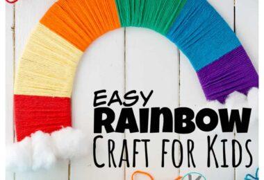 Pretty rainbow craftthat is such a fun,