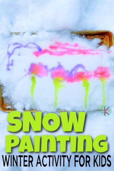 Kids will have fun playing in the winter wonderland with this funpainting in the snow activity! For this super simple and EPICwinter activity for kidsall you need are a few simple materials you probabaly already have on hand. So grab your toddler, preschool, pre-k, kindergarten, first grade, and 2nd grader for a funsnow activity for kids!