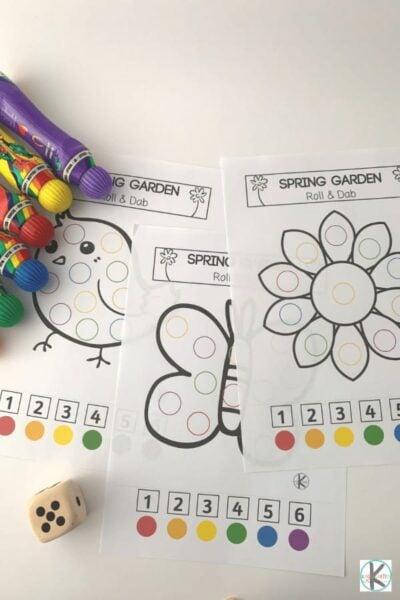 Spring worksheets for preschool