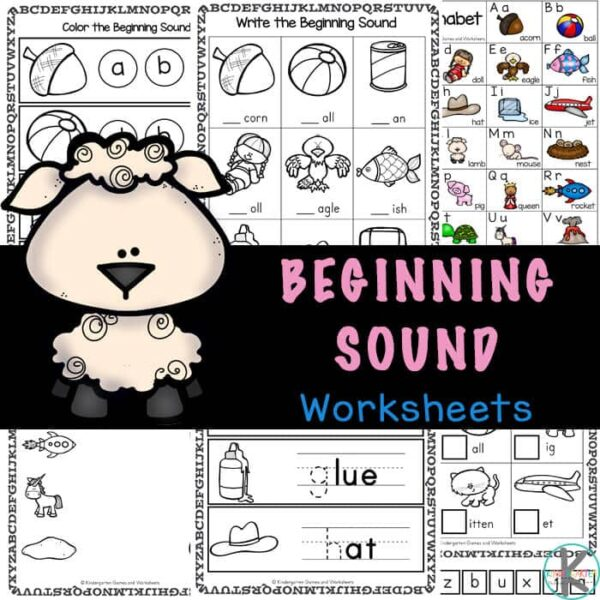 FREE Beginning Initial Sound Worksheets