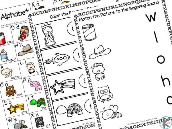 beginning sounds worksheets for kindergarten pdf